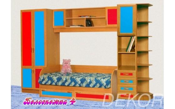 """Набор мебели для детской комнаты со спальным местом и шкафом """"Белоснежка-4"""""""