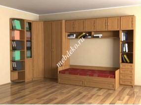 """Стенка в детскую комнату """"Эсфирь-1"""" с кроватью"""