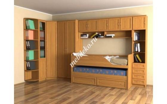 """Стенка в детскую комнату """"Эсфирь-4"""" с дополнительным выкатным местом"""