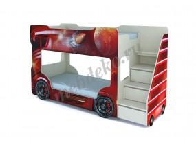 """Детская кровать """"Автобус"""" двухъярусная"""