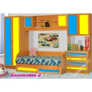 """Детская стенка со спальным местом, комодом, шкафом и антресолями  """"Белоснежка-5"""""""