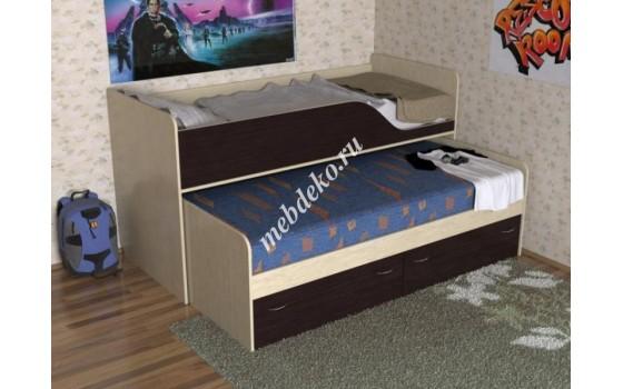 """Детская кровать """"Фаина"""" с дополнительным выкатным местом"""