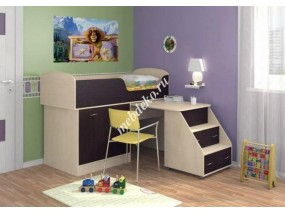 """Детская кровать """"Фиона"""" с выдвижным столом."""