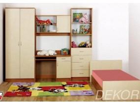 """Детская стенка с кроватью, распашным шкафом, компьютерным столом и антресолью """"Гармония-1"""""""