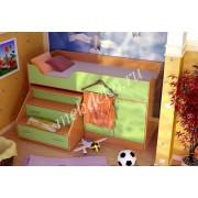 """Детская кровать """" Кристиана """" с лестницей комодом"""