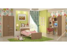"""Детская комната с кроватью, шкафом и столом с полками  """"Лёва-1"""""""