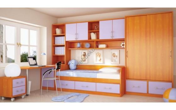 """Мебель в детскую с кроватью и платяным шкафом """"Маркиза-1"""""""