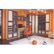 """Детская мебель с  угловым комбинированным шкафом и столом """"Мишель-2"""""""