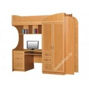 """Мебель для детской  """"Полина"""" с письменным столом и комбинированным шкафом"""
