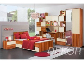 """Детская стенка с кроватью, 3 тумбами, столом и шкафом  """"Ральф-2"""""""