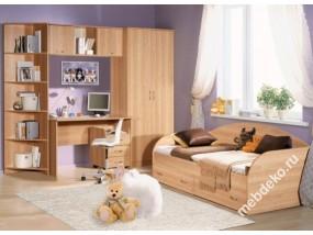"""Детская комната """"Спринт-3"""" с кроватью и письменным столом"""