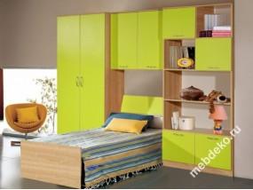 """Стенка для детской комнаты с кроватью """"Спринт-4"""""""