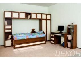 """Детская  стенка с кроватью, выкатным ящиком, шкафом и полками  """"Тигрёнок"""""""
