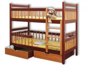 """Детская  2-х ярусная кровать  """"Викинг"""" с ящиками (в)"""