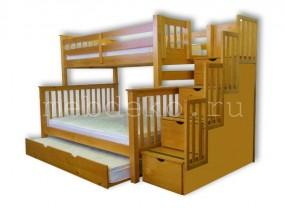 """Детская  2-х ярусная кровать  """"Атланта-3"""" с выкатным спальным местом (в)"""
