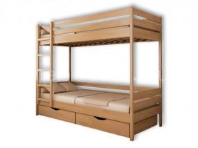 2-х ярусная кровать Классика  с ящиками (в)