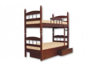 Двухъярусная кровать Кузя-2 с ящиками (в)