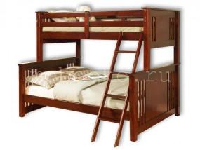 """Детская  2-х ярусная кровать из натурального дерева """"Мальта"""" (в)"""