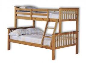 """Детская  2-х ярусная кровать из натурального дерева """"Модерн-1""""  (в)"""