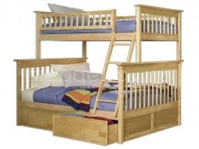 """Детская  2-х ярусная кровать из натурального дерева """"Авангард-2"""" с ящиками (в)"""