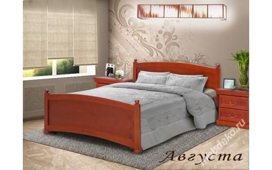 """Кровать из натурального дерева со спинками """"Августа"""""""