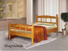 """Кровать из массива дерева со спинками """"Барыня"""""""