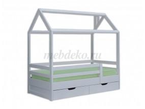 """Детская кроватка """"Домик с ящиками"""""""