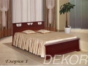 """Кровать из массива с 1 спинкой """"Глория-1"""""""