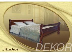 """Кровать из массива дерева с двумя спинками """"Ладья"""""""