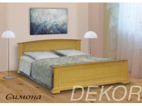"""Кровать из  дерева с 2 спинками """"Симона"""""""
