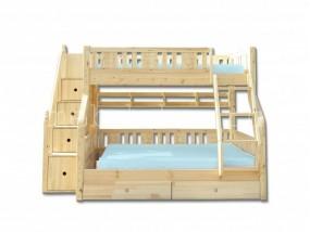 """Детская  2-х ярусная кровать из натурального дерева """"Веста"""" с ящиками (в)"""
