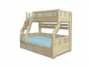 """Детская  2-х ярусная кровать из натурального дерева """"Веста-1"""" с ящиками (в)"""