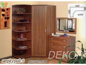 Комплект мебели с угловым шкафом Меркурий-5