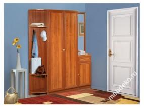 Комплект мебели в прихожую Салют-10 с угловой вешалкой