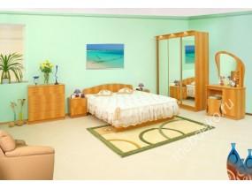 """Мебель для спальни """"Светлана-2"""" с трехстворчатым шкафом и кроватью (1600х1900)"""