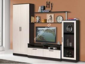 """Мебель для гостиной комнаты со шкафом и тонированным стеклом """"Капри-2"""""""