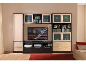 """Мебель в гостиную со стеклом и одностворчатым шкафом """"Олимпия-1"""""""