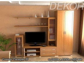 """Набор мебели в с платяным шкафом и стеклом """"Палермо-8"""""""
