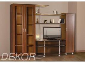 """Набор мебели в гостиную с двумя шкафами и стеклом """"Санремо-7"""""""