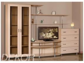 """Набор мебели для гостиной комнаты с двустворчатым шкафом и комодом с выдвижными ящиками """"Санремо-9"""""""