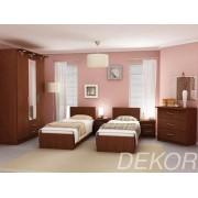 """Набор мебели для спальни """"Юнона-1"""" с двумя односпальными кроватями 900х2000"""